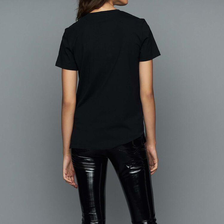 Loose T-Shirt mit Einfassbändern : Urban farbe Schwarz