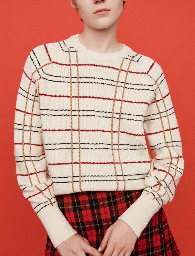 Pullover aus kariertem Jacquard - Midseason-Sales_UK_30% - MAJE