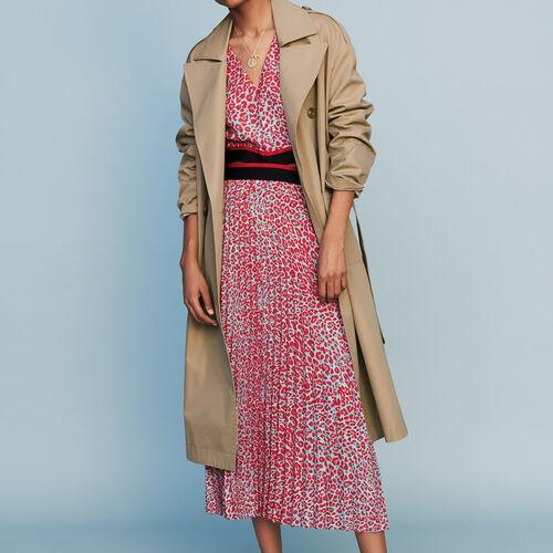 Stoff-Trenchcoat : Mäntel farbe Beige