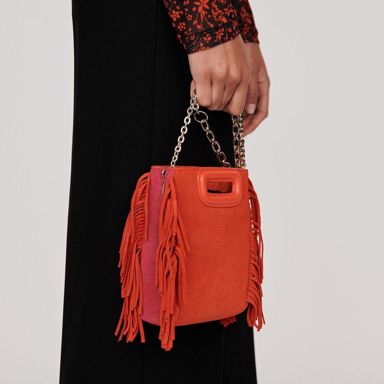 Mini M Tasche aus Leder mit Kette : M Mini farbe Rouge