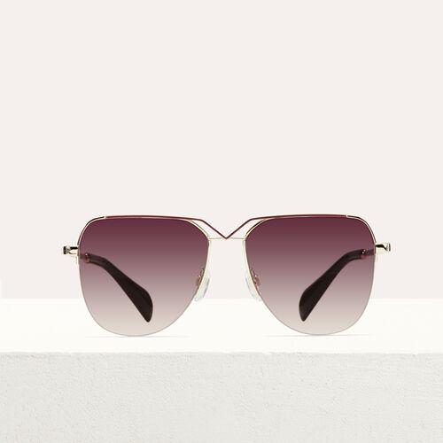 Sonnenbrille in Pilotenform : Brillen farbe Burgunderrot