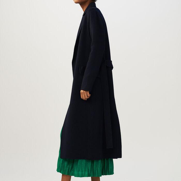 Langer zweiseitiger Mantel : Mäntel farbe Marineblau