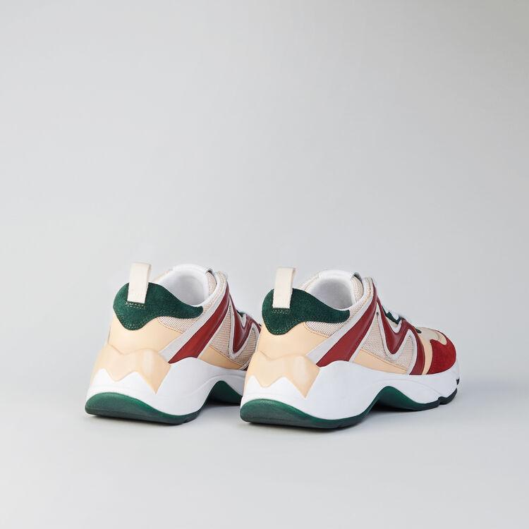 W22 mixed material sneakers : Sneakers farbe VERT