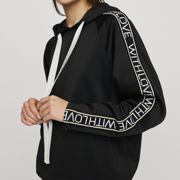 Sweatshirt mit Kapuze : Pullover & Strickjacken farbe Schwarz