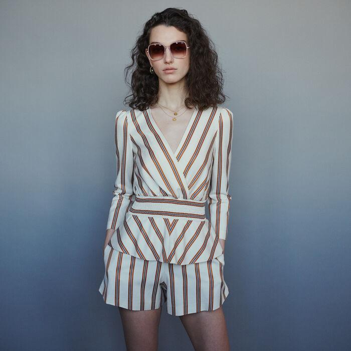 Jumpsuit mit Streifen : Röcke & Shorts farbe Gestreift
