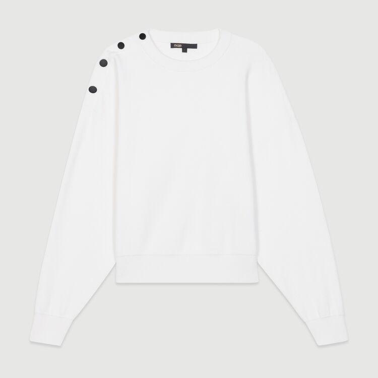 Pullover mit Schulterknöpfen : Neue Kollektion farbe ECRU