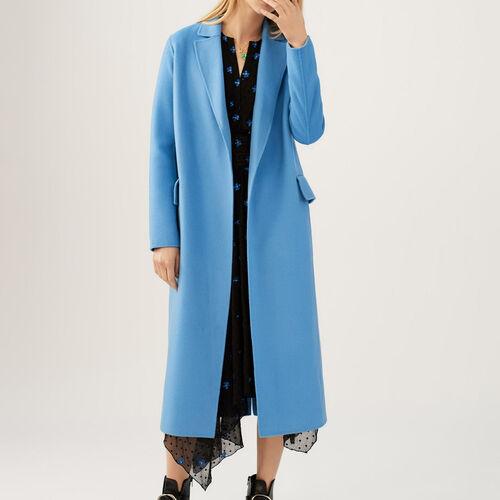 Doppelseitiger Wollmantel : Mäntel farbe Marineblau