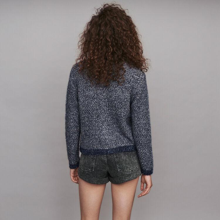 Strick Cardigan aus Lurex : Pullover & Strickjacken farbe Blau