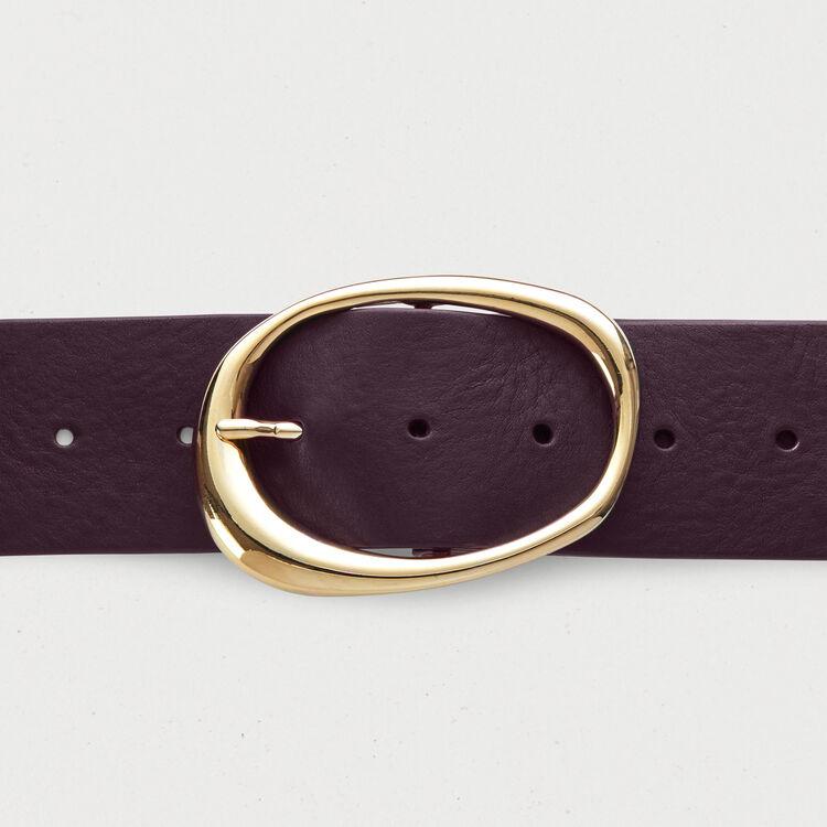 Breiter Ledergürtel : Accessoires farbe Burgunderrot