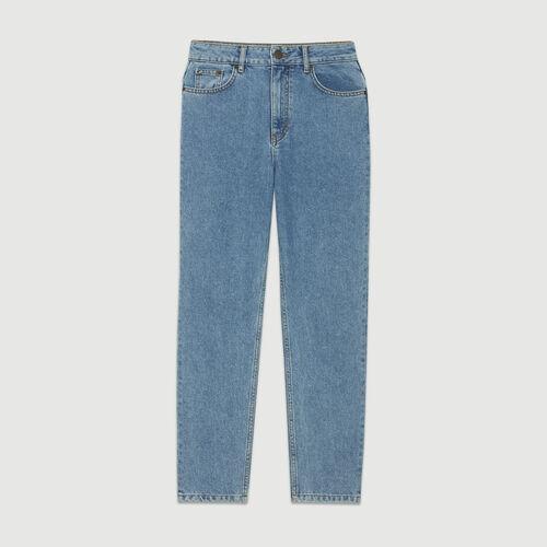 Weite Jeans aus verwaschenem Denim : Bekleidung farbe Denim