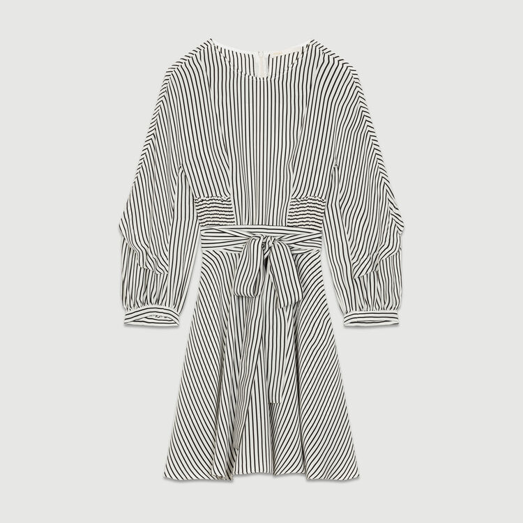Striped dress with smocked waist : Kleider farbe Gestreift
