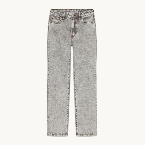 Verwaschene Jeans mit geradem Schnitt - null - MAJE