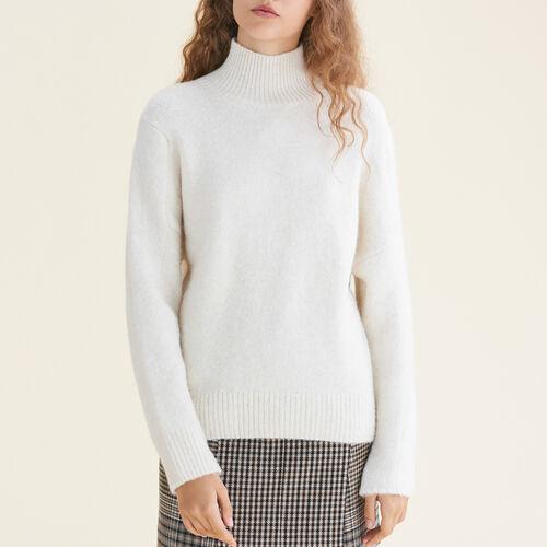 Pullover mit Stehkragen : Pulls & Cardigans farbe Ecru