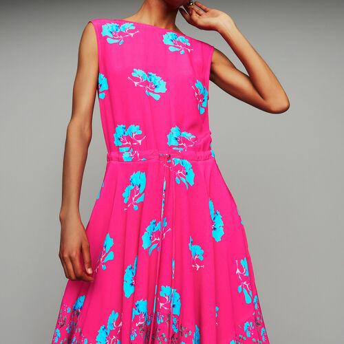 Langes ärmelloses Kleid mit Print : Kleider farbe IMPRIME