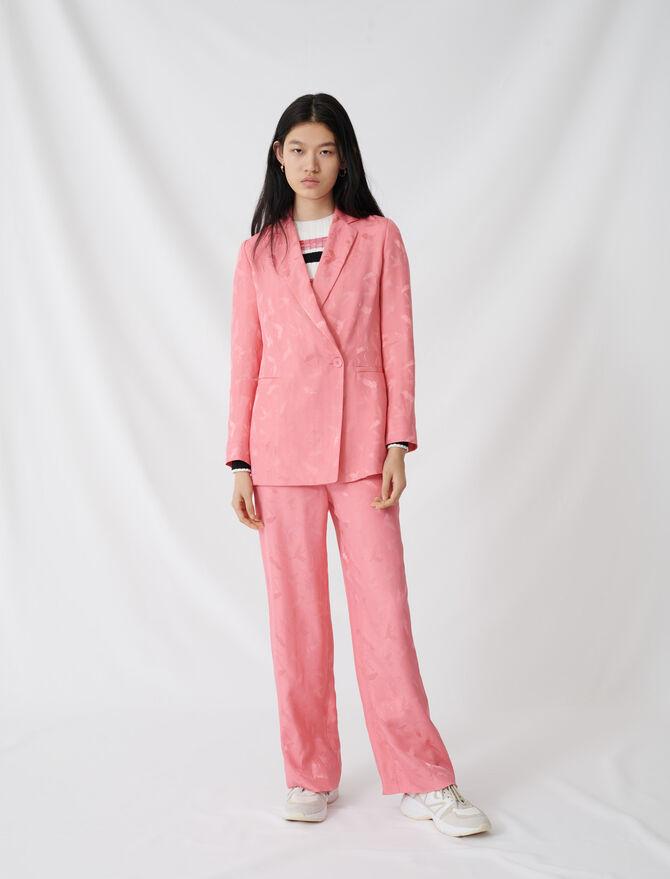 Zweireihige Jacke aus Satinjacquard - Blazers - MAJE