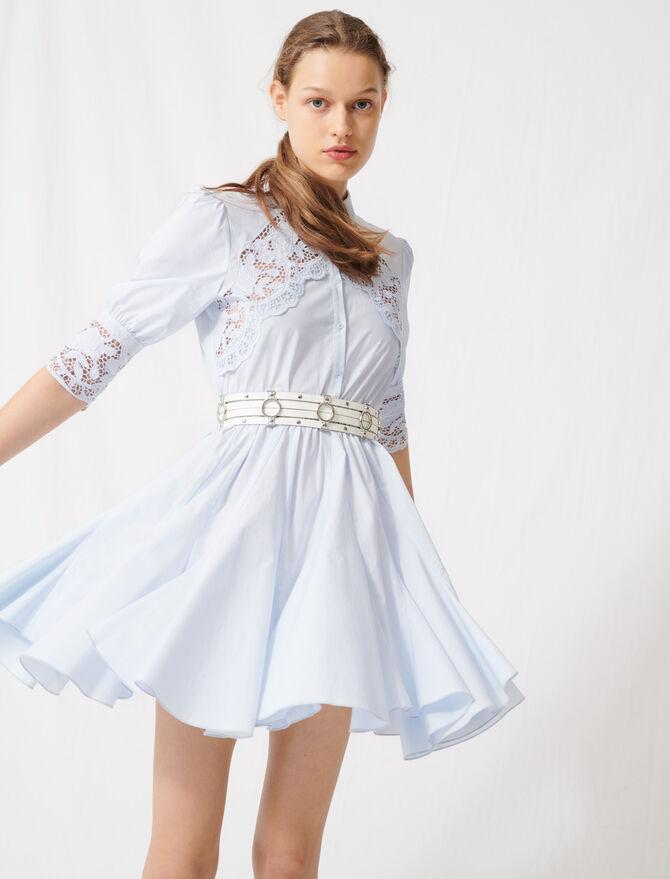 Unten ausgestelltes Kleid mit Gürtel - Kleider - MAJE