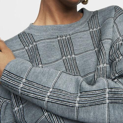 Oversize-Pullover aus Jacquard-Strick : Strickwaren farbe CARREAUX