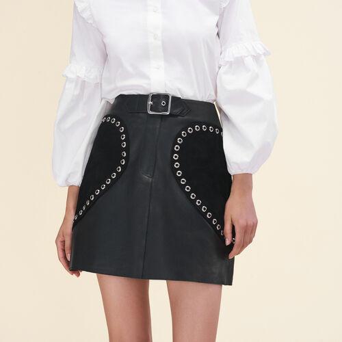 Ausgestellter Lederrock - Röcke & Shorts - MAJE