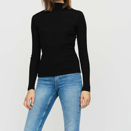 T-Shirt aus Wollgemisch : Strickwaren farbe SCHWARZ
