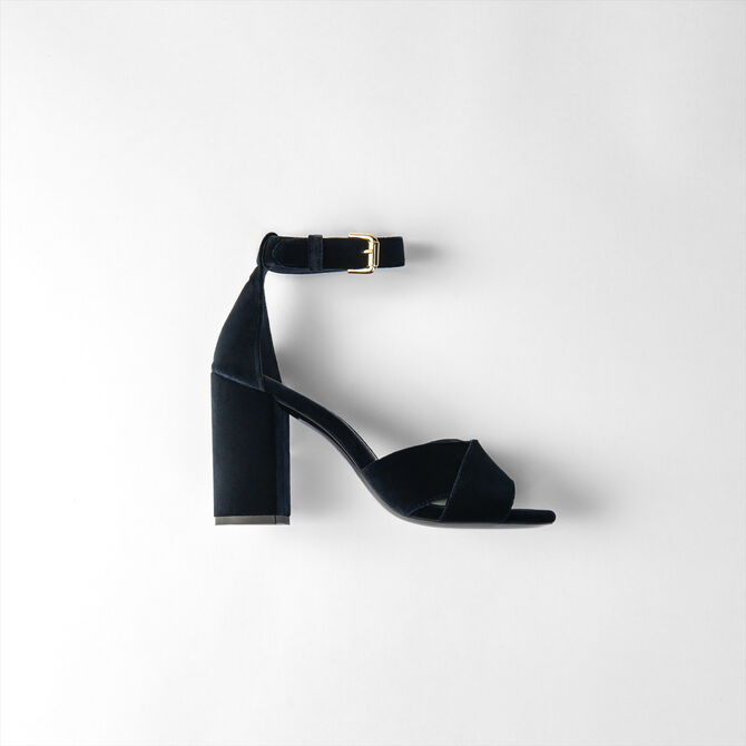 Hohe Sandalen aus Veloursleder -  - MAJE