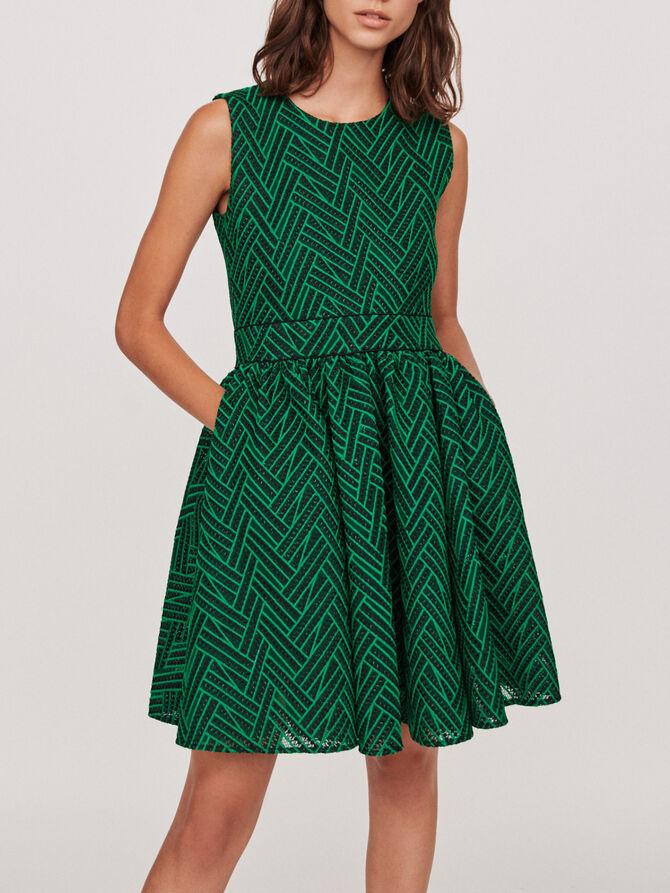 Basket-stitched knit dress - Midseason-Sales_IE_Bestsellers - MAJE
