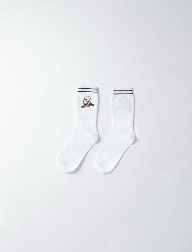 Gyps' cotton socks -  - MAJE