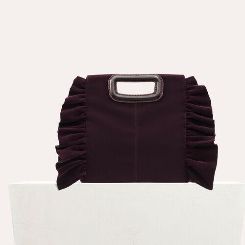 M Tasche mit Volants aus Velours - M Tasche - MAJE