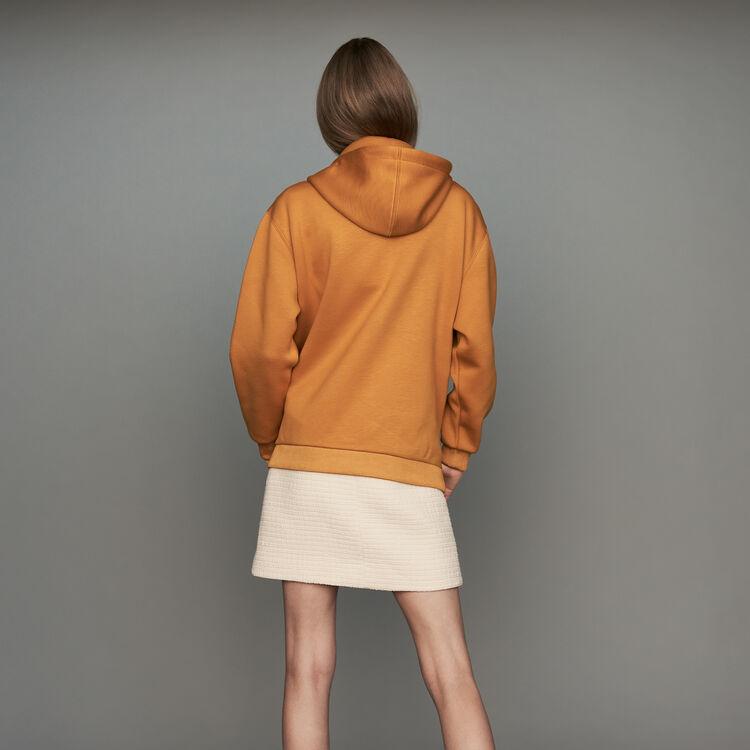 Kapuzen-Sweatshirt mit Reißverschluss : Sweatshirts farbe Camel