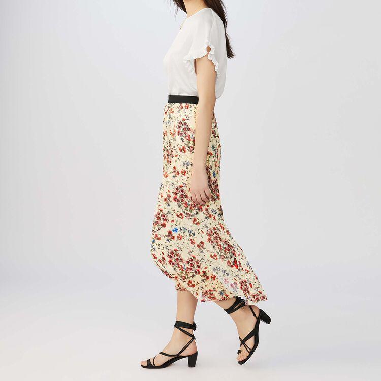 Langer Plisseerock mit Blumendruck : Röcke & Shorts farbe IMPRIME