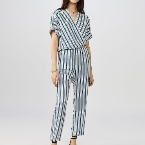Striped jumpsuit : Hosen farbe Gestreift