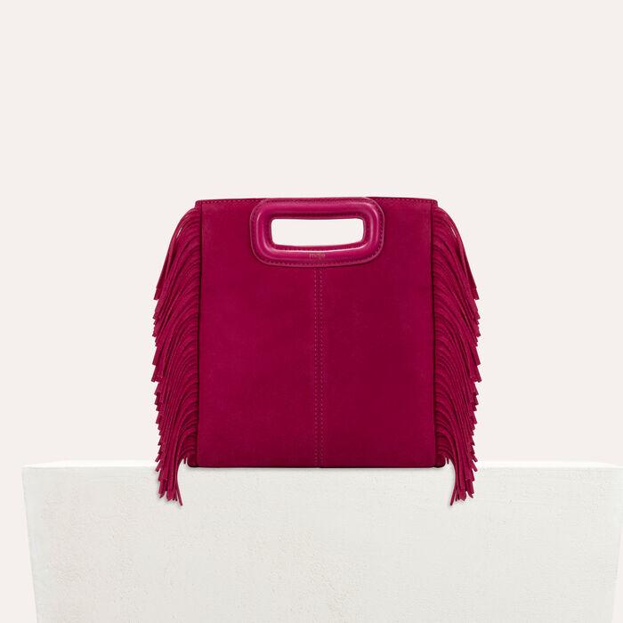 M Tasche aus Veloursleder : M Tasche farbe Himbeerrot