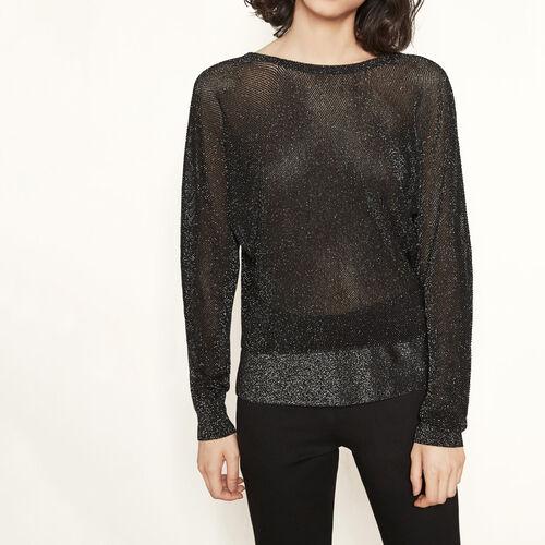 Pullover mit freiem Rücken : Pullover und Cardigans farbe Schwarz