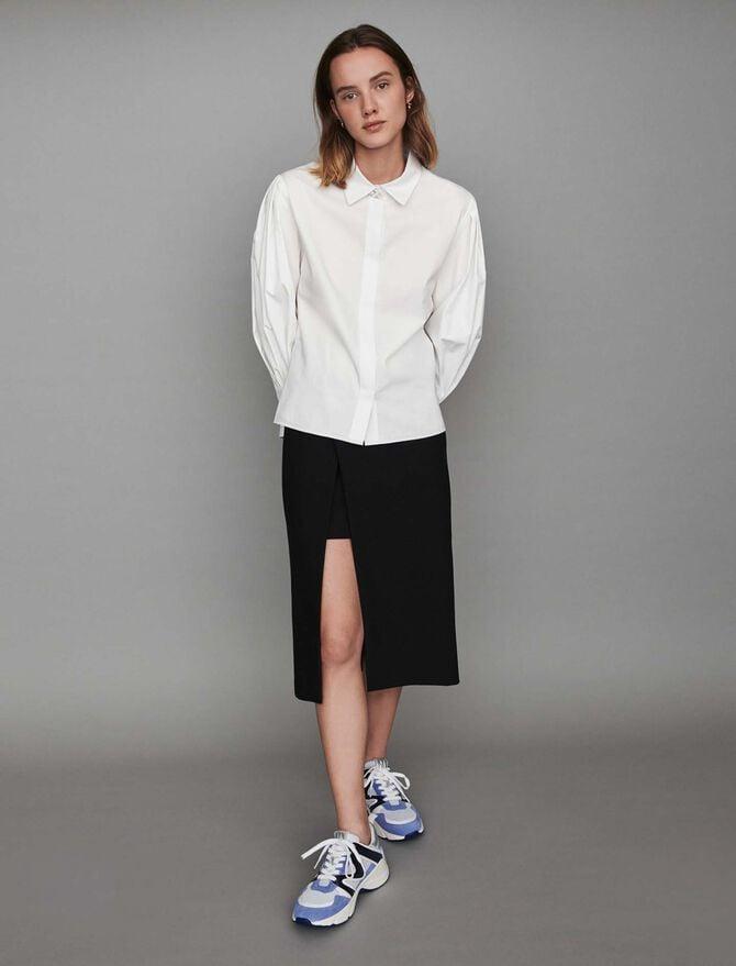 Popeline-Bluse mit Zierknöpfen - Tops & Hemden - MAJE