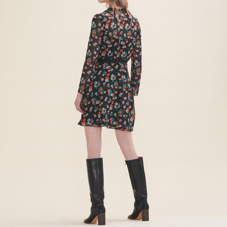 Bedrucktes Kleid mit Rippenborte : Robes farbe Print