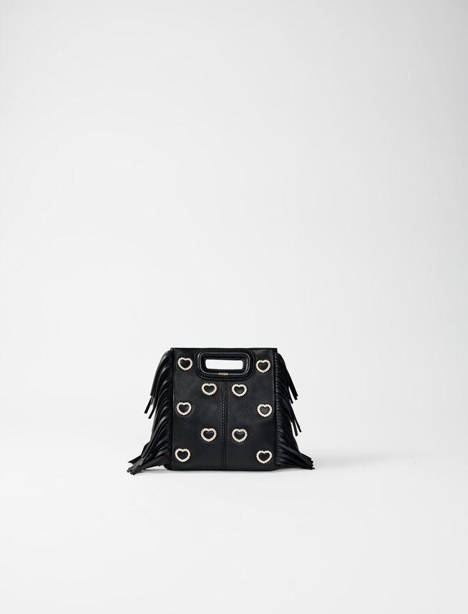 M Mini-Tasche aus Leder mit Kette -  - MAJE
