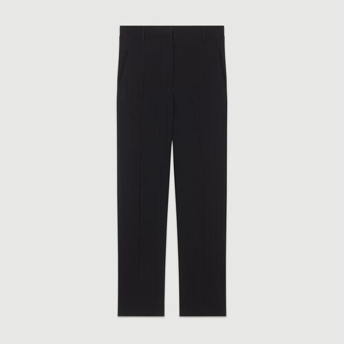 Gerade Viskose-Hose : Hosen farbe Schwarz