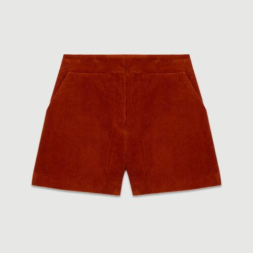 Cord-Short : Röcke & Shorts farbe Karamell