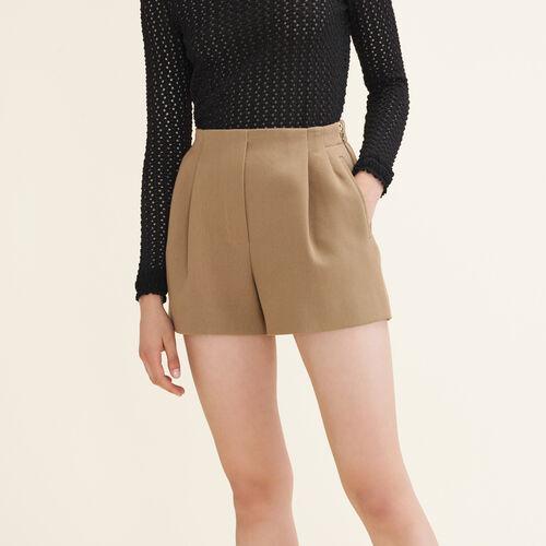 Shorts aus Baumwollgemisch : Jupes & Shorts farbe Camel