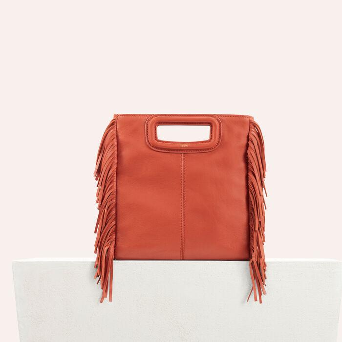 M Tasche aus Lammleder : M Tasche farbe Ziegelrot
