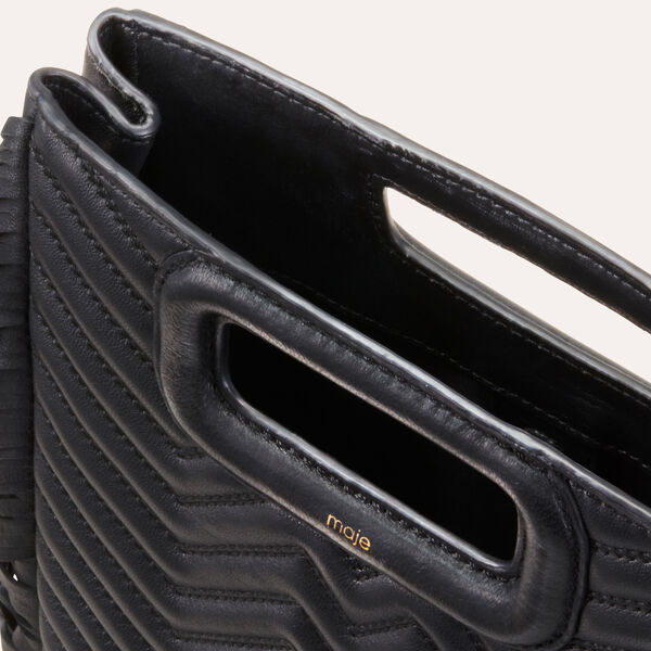 Maje - M Tasche aus gestepptem Leder - 5