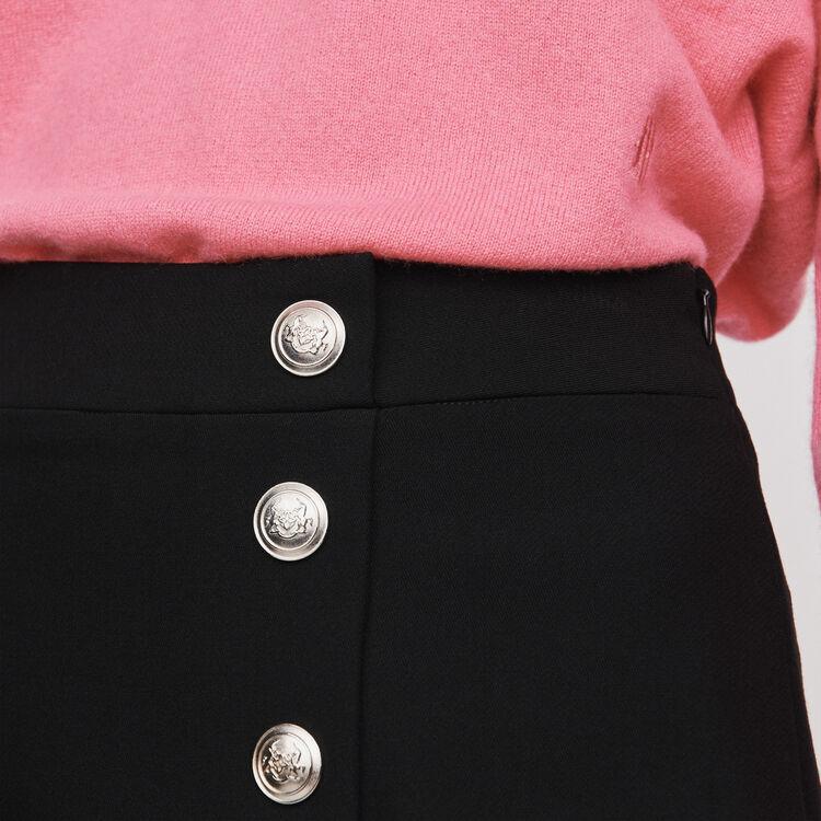 Gerader Rock mit Knöpfen : Röcke & Shorts farbe Schwarz