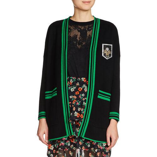 Halblange Weste mit Emblem : Pulls & Cardigans farbe Schwarz