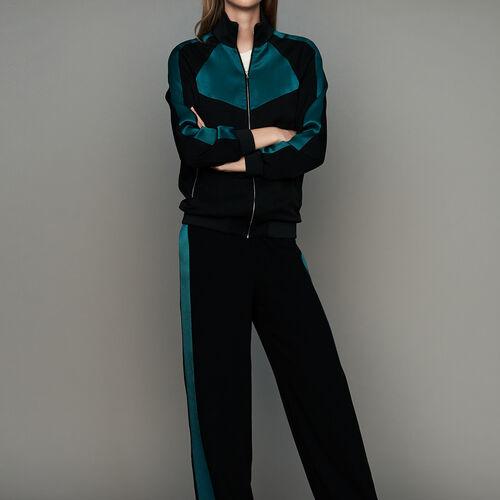 Zweifarbige Sportjacke : Blazers farbe Schwarz