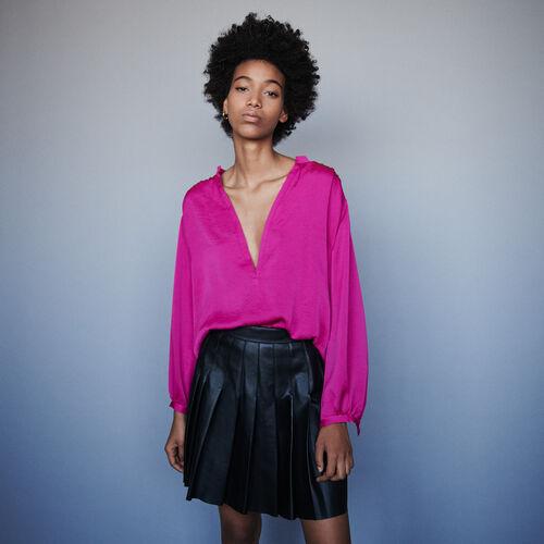 Satintop : Tops & Hemden farbe Rosa