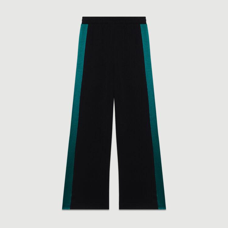 Zweifarbige weite Hose : Urban sport farbe Schwarz