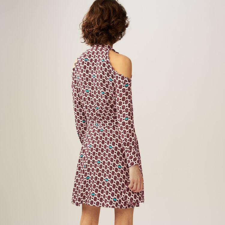 Bedrucktes schulterfreies Kleid : Kleider farbe IMPRIME