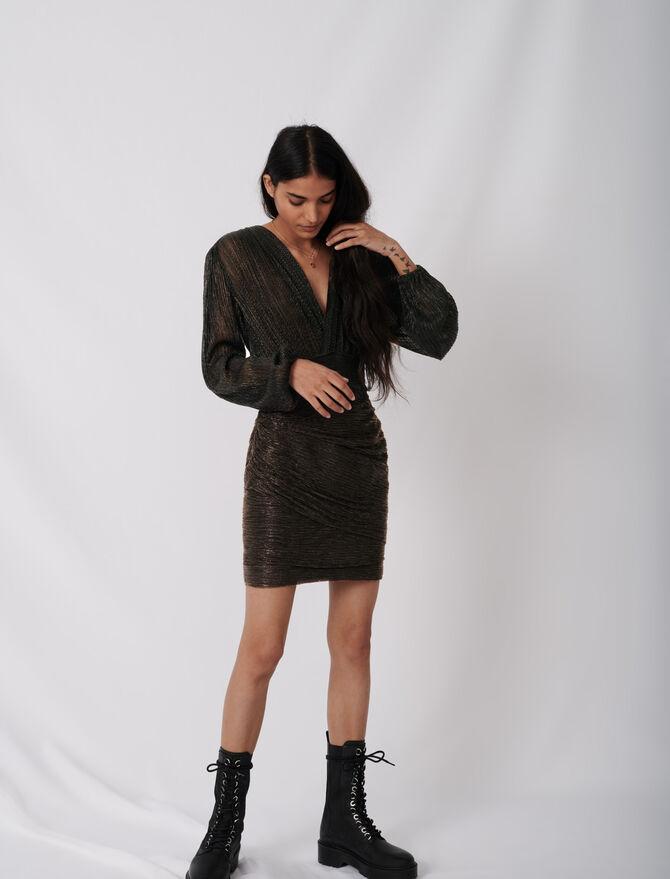 Eng anliegendes Stretchkleid aus Lurex - Kleider - MAJE