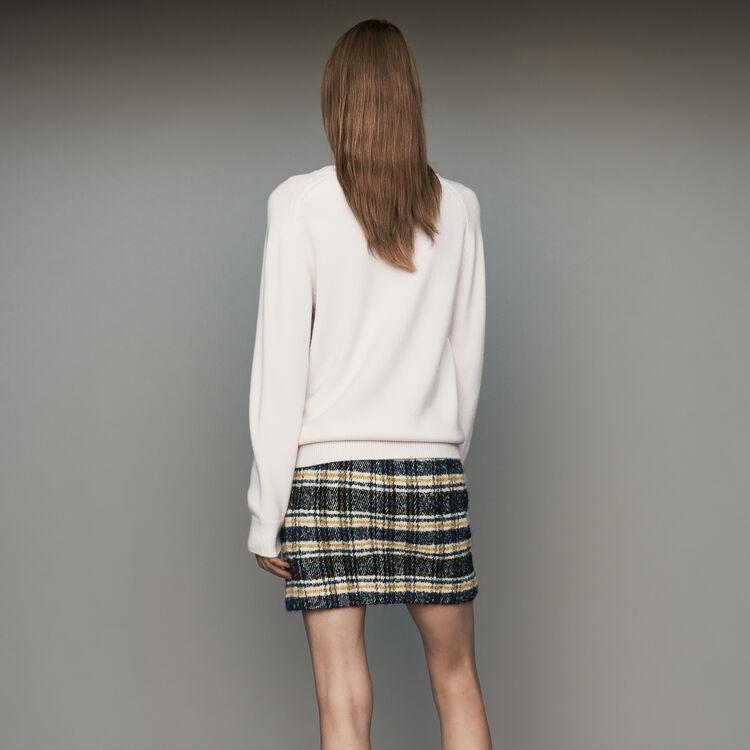 Oversize-Pullover aus Wolle und Kaschmir : Strickwaren farbe ECRU