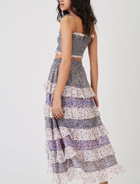 Volant-Petticoat aus Baumwoll-Voile : Röcke & Shorts farbe Blau