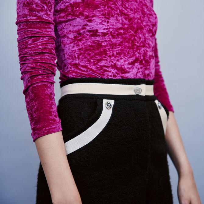 Short mit Tweed und Konstrast-Streifen -  - MAJE